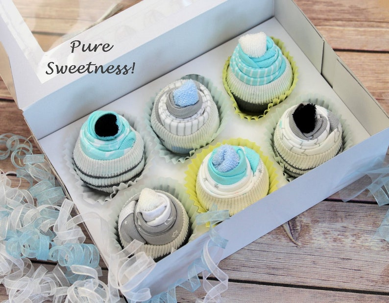 New Onesie Cupcakes Baby Cupcakes Baby Boy Shower Gift Etsy