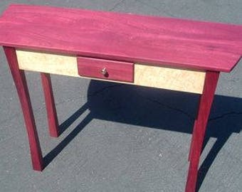 purple heart wood furniture. Purpleheart And Quilted Bird\u0027s Eye Maple Entry Hall, Sofa, Or Console Table. Purple Heart Wood Furniture