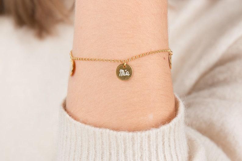 Armband mit Handgravur  Familien-Armband  Personalisiertes image 0