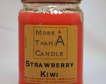 16 oz Strawberry Kiwi Soy Candle