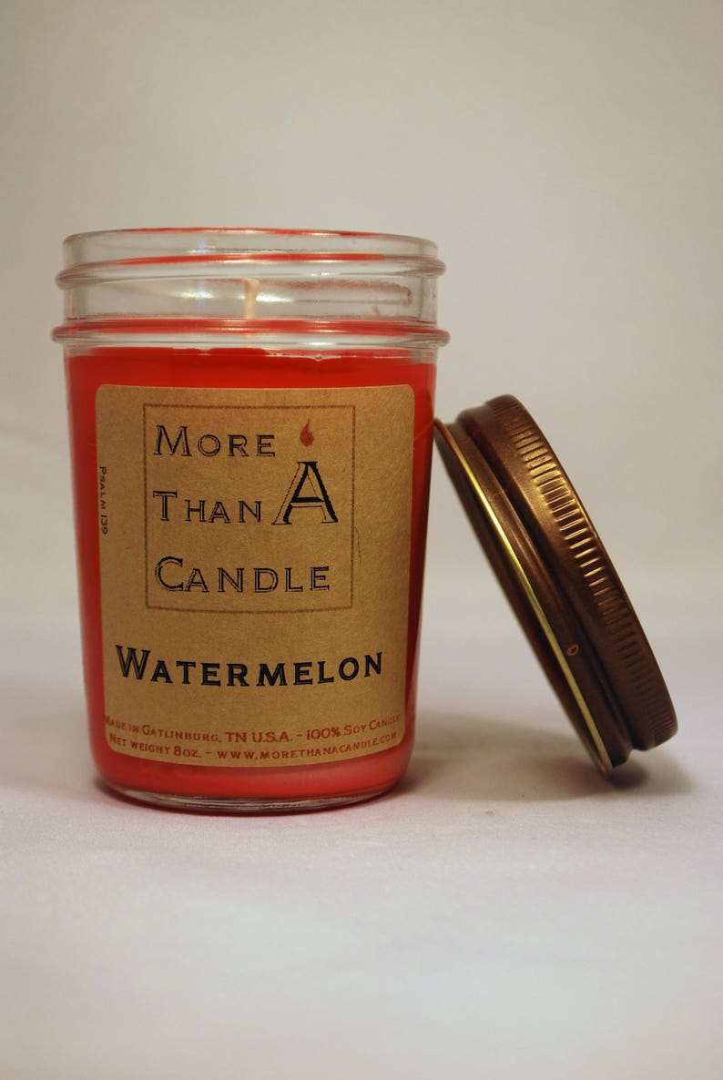 8 oz Watermelon Soy Candle