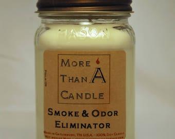 16 oz Smoke and Odor Eliminator Soy Candle