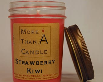 8 oz Strawberry Kiwi Soy Candle