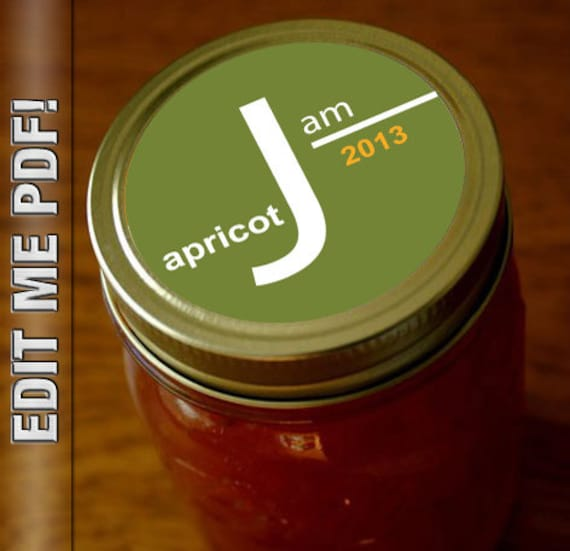 I AM JAM Modern Canning Jar Labels 2 Round And Wrap