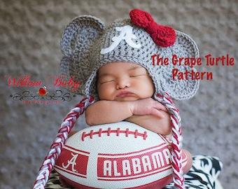 Elephant Hat CROCHET PATTERN, Newborn Photo Prop, Instant Download