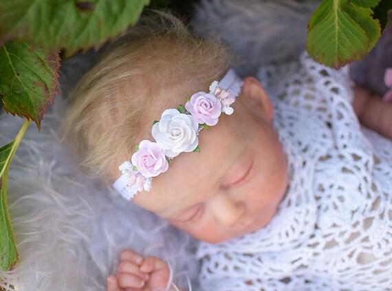 profiter de prix discount offre dernières conceptions diversifiées Mini couronne, fleurs, baptême, bandeau bébé, serre-tête, bandeau de  baptême, Couronne, bandeau, brzoswiniowy