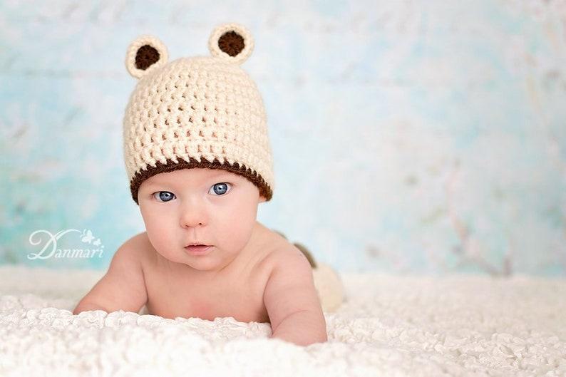 2020 Adorable Little Teddy Bear Earflap Hat,Handmade Knit Crochet ... | 529x794