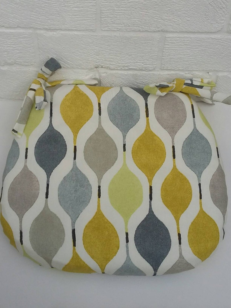 Tie On Seat Pad Chair Cushions Garden Chairs Dining Room Etsy