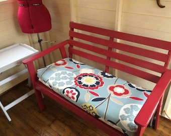 Custom bench cushion, boxed bench pad, dining bench cushion, made to measure, bespoke sizes, kitchen bench cushion, request quote for price