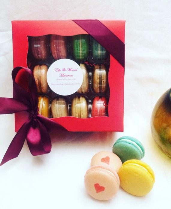 sc 1 st  Etsy & 12 French macarons in gift box | Etsy