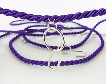 """Cord for advent calendar with hook """"purple"""" color choice (string, rope, garland)"""