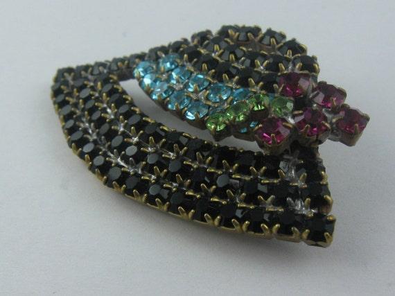 "Ladies hat ""Tyrolean hat"" black, turquoise ribbon… - image 4"