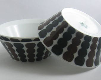 Rosenthal studio-line Germany. Form: Berlin, Hans Theo Baumann. 3 small bowls / cereal bowls / side dishes. 1970s porcelain. VINTAGE