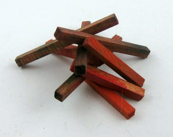 Original OSTHEIMER wooden figures. Wooden toys. 10 pieces of wood for the campfire. RARITY for Ostheimer Indians collectors. VINTAGE