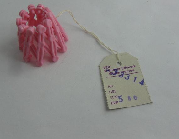Culte de la RDA  supports pour queue de cochon ou de chignon en rose.  Bijoux de cheveux.