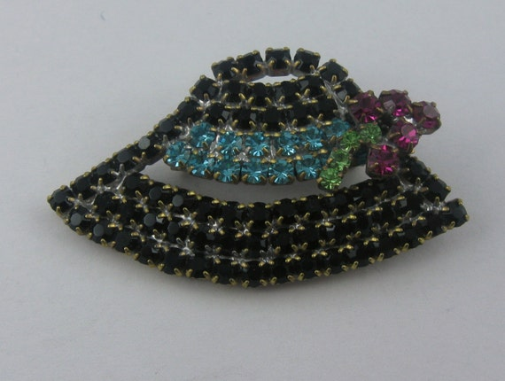 "Ladies hat ""Tyrolean hat"" black, turquoise ribbon… - image 2"