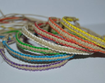 Choose-A-Color Hemp Bracelet