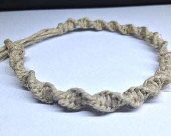 Basic, Spiral Light (Thin) Hemp Bracelet