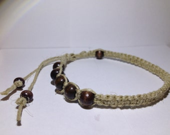 Design-Beaded Hemp Anklet