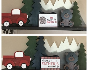 Lumberjack 4x6 Father's Day Wood Block - Happy Father's Day, My Favorite Daddy-0