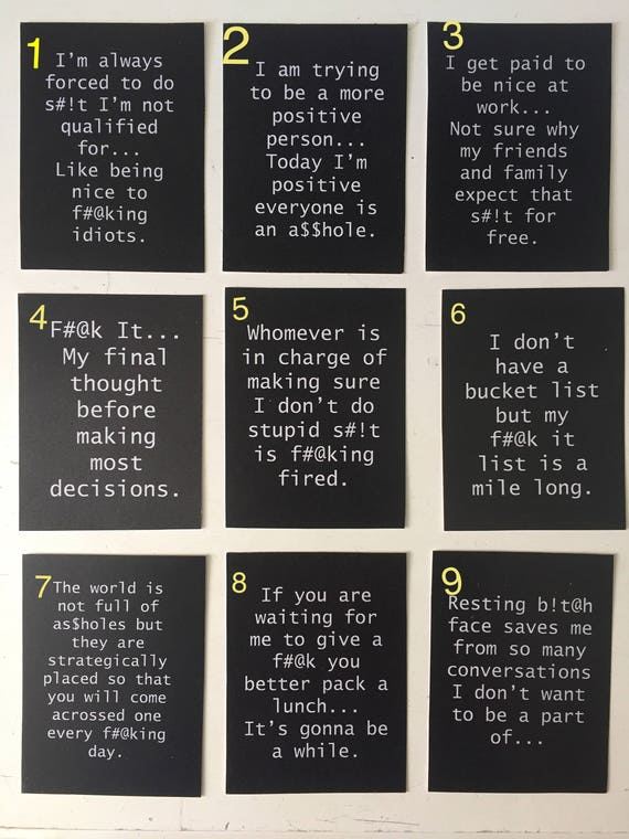 Sarcastic Censored Quotes Sayings Black 3x4 Wood Block Etsy