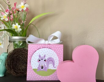 Small Blessings (Pink) 4x4 Wood Block