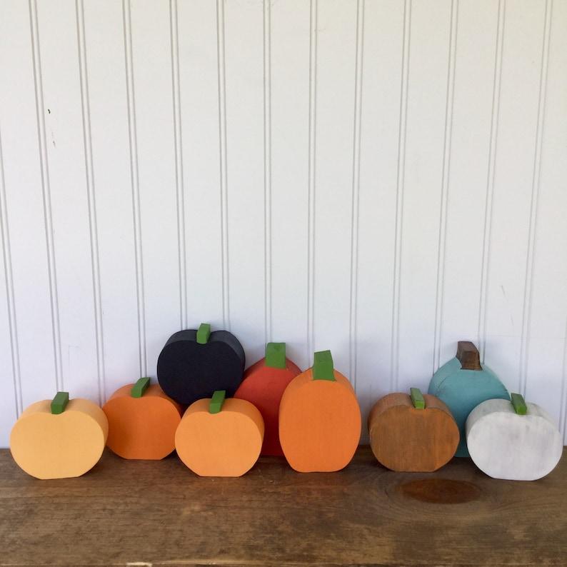 69abac55346 Wood Pumpkins Halloween Harvest Rustic Pumpkins Autumn | Etsy