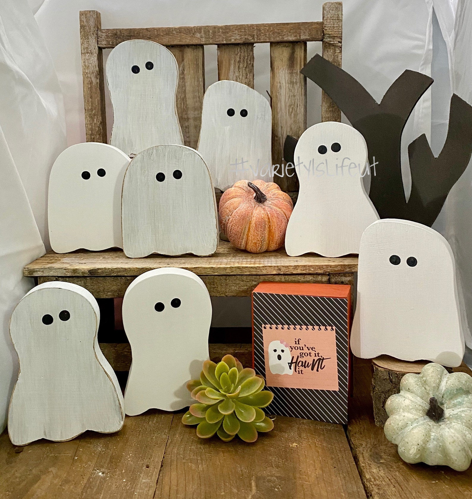 Halloween Gum Drop Ghosts Home Decor