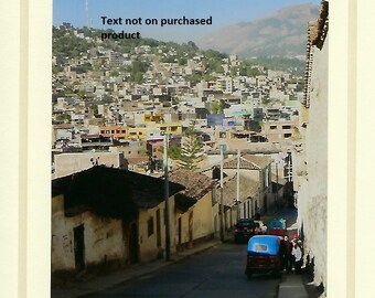 Ayacucho, Peru street scene photo card