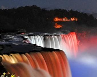 Niagara waterfall at night , Niagara N.Y.