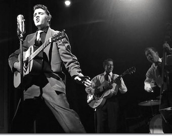 Elvis Presley ,  Elvis on March 17, 1956 The Dorsey Brothers Stage Show