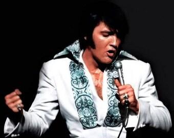 Elvis Presley ,  Elvis on stage around 1970