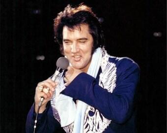 Elvis Presley on stage in 1975