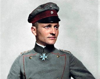 Manfred Von Richthofen the Red Baron top ace of WWI with 80 victories