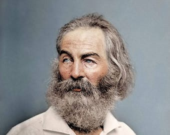 American Poet Walt Whitman in a photograph from 1868