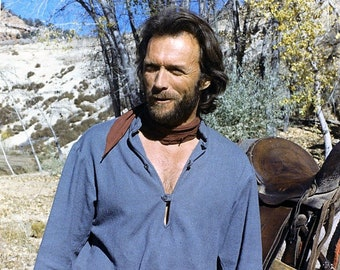 Clint Eastwood on the set of  film the 1976 film The Outlaw Josey Wales
