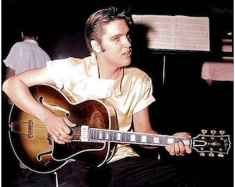 Elvis Presley backstage , 1950's
