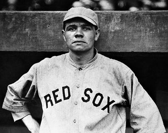 Babe Ruth in a Boston uniform in 1915