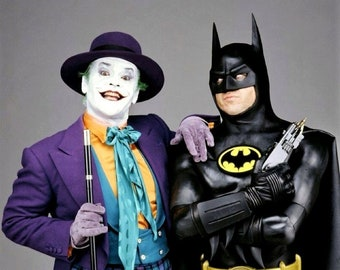 Michael Keaton and Jack Nicholson from the 1989 Warner Bros. film  Batman.