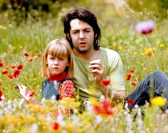 Beatles Legendary musician Paul McCartney and his daughter Heather in 1970.