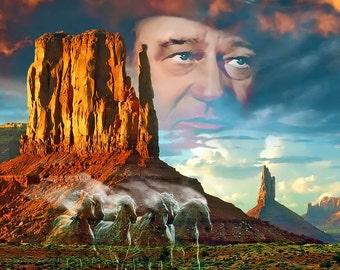 John Wayne - Color print , Ghost