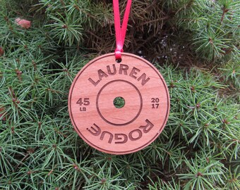 Barbell Plate Ornament