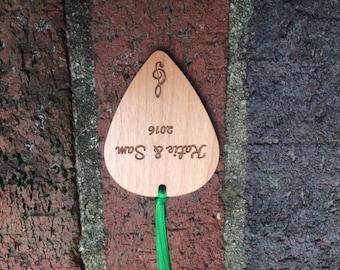 Wooden Guitar Pick Ornament