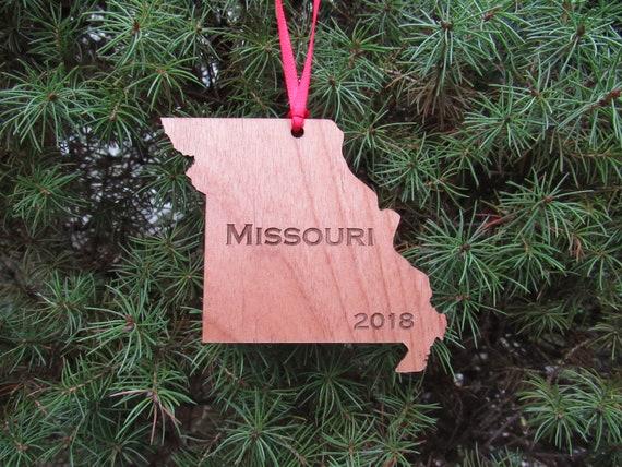Missouri Ornament State Ornament Wood Ornament Missouri State