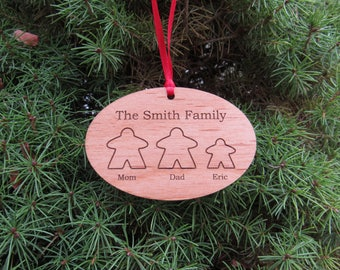 Meeple Family Ornament