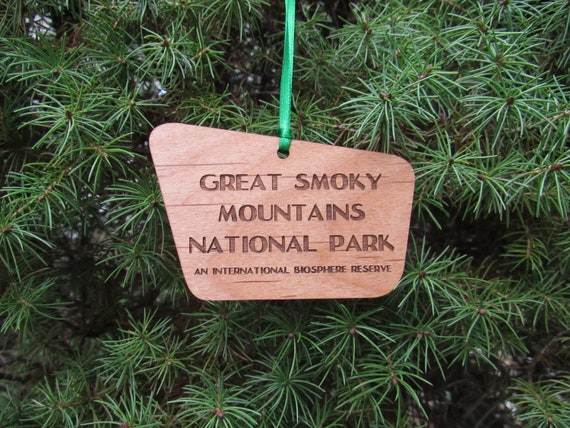 Great Smoky Mountains National Park Sign Ornament