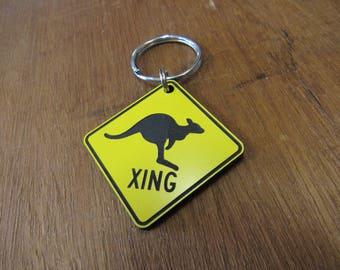 Kangaroo Crossing Key Chain