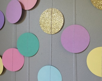 Pastel Garlands with Gold embellishments