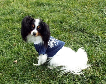 Penn State Dog Shirt   Navy Penn State Shirt   College Dog Clothes   Penn  State Pet Clothes   Nittany Lions   Navy and White Penn State 7cb35f467