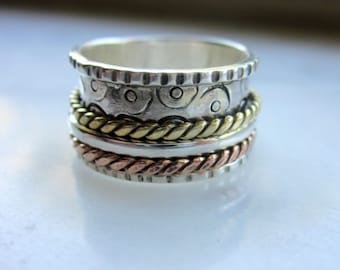 Sterling silver spinner ring 925 spinner ring silver spinner ring sterling worry sterling eternity wedding bands 925 spinner ring clearance